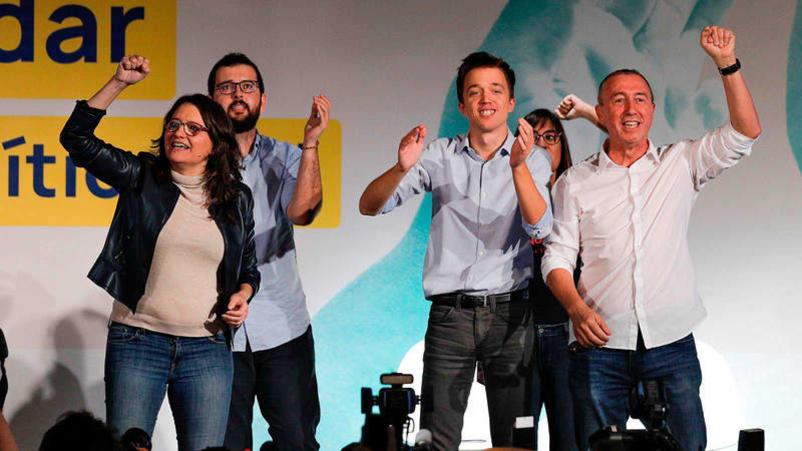Elecciones 10N: Mitin de Más País en Valencia, con Íñigo Errejón, Joan Baldoví y Mónica Oltra