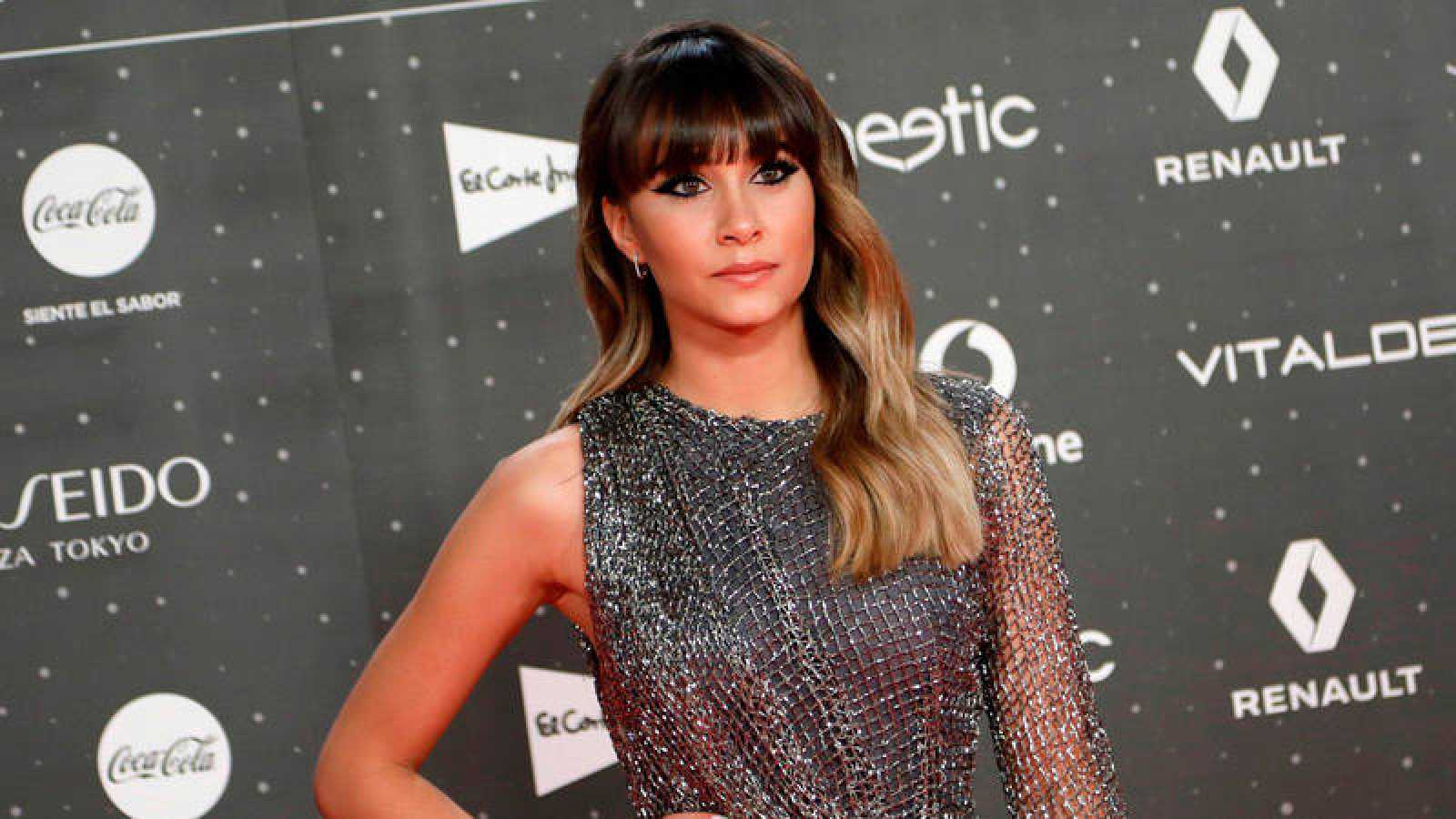 Aitana, a su llegada a Los40 Music Awards