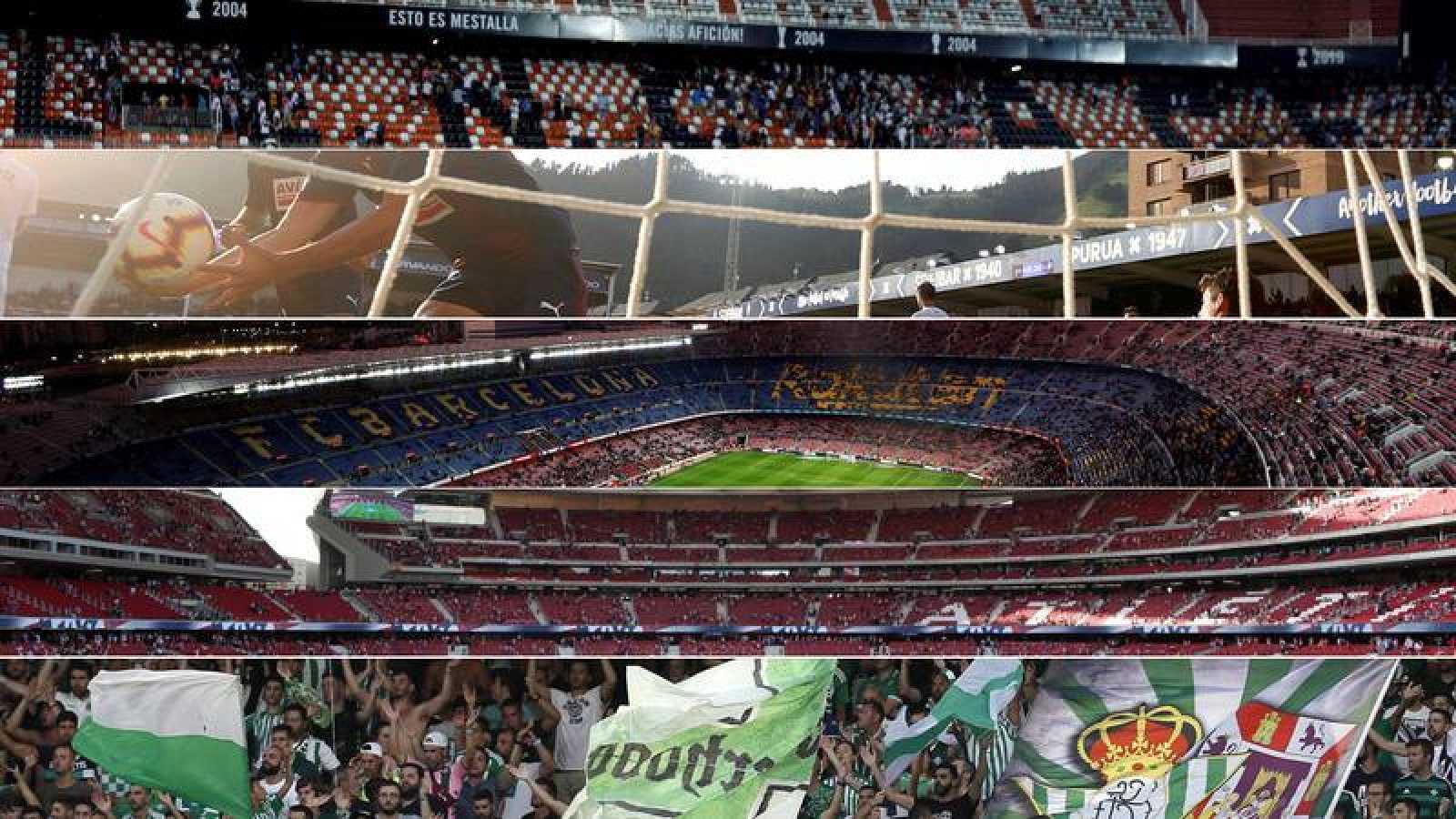 El liderato de la Liga se juega en cinco estadios