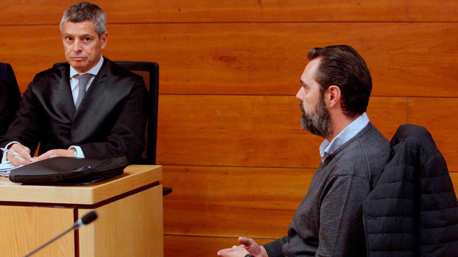 El acusado, Miguel López, durante el juicio