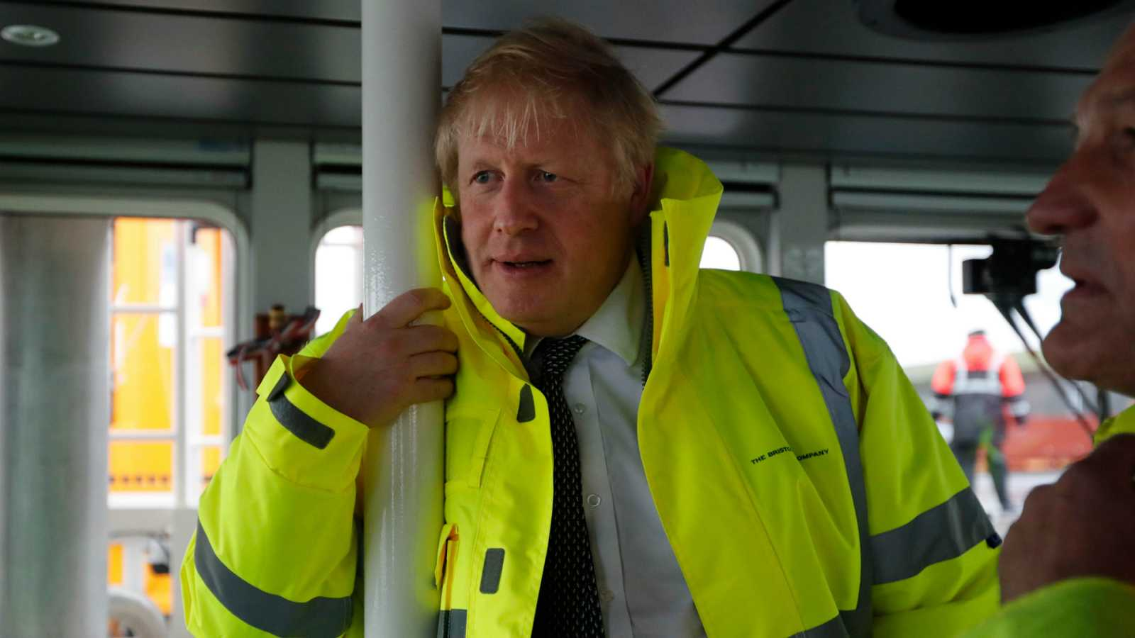 El primer ministro británico, Boris Johnson, este jueves en un acto de campaña