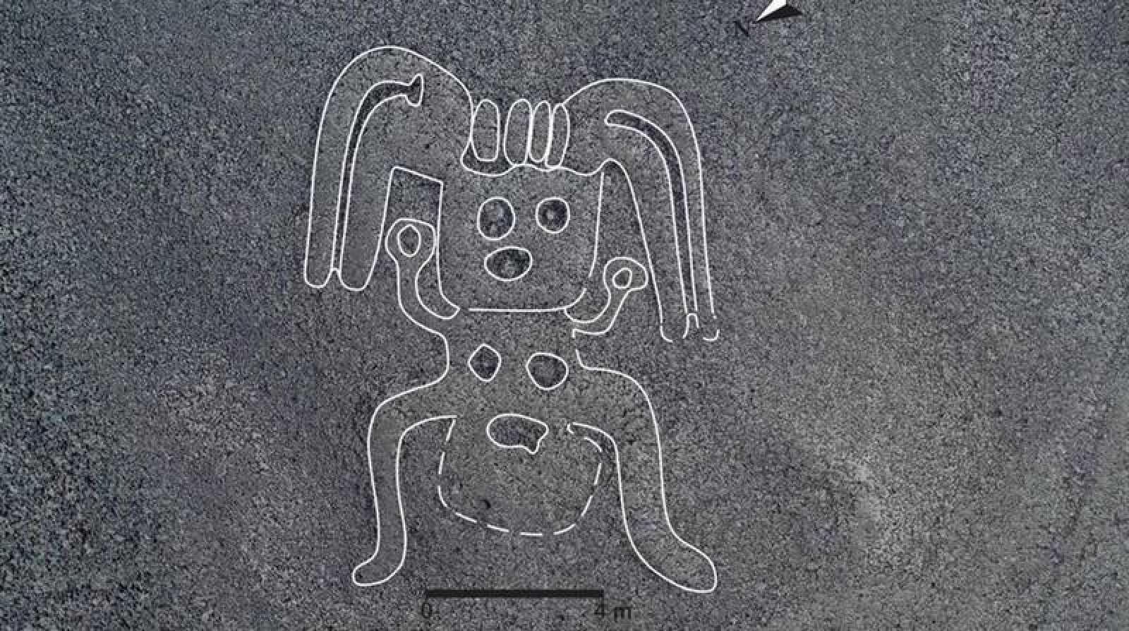 Una de las figuras humanoides descubiertas.