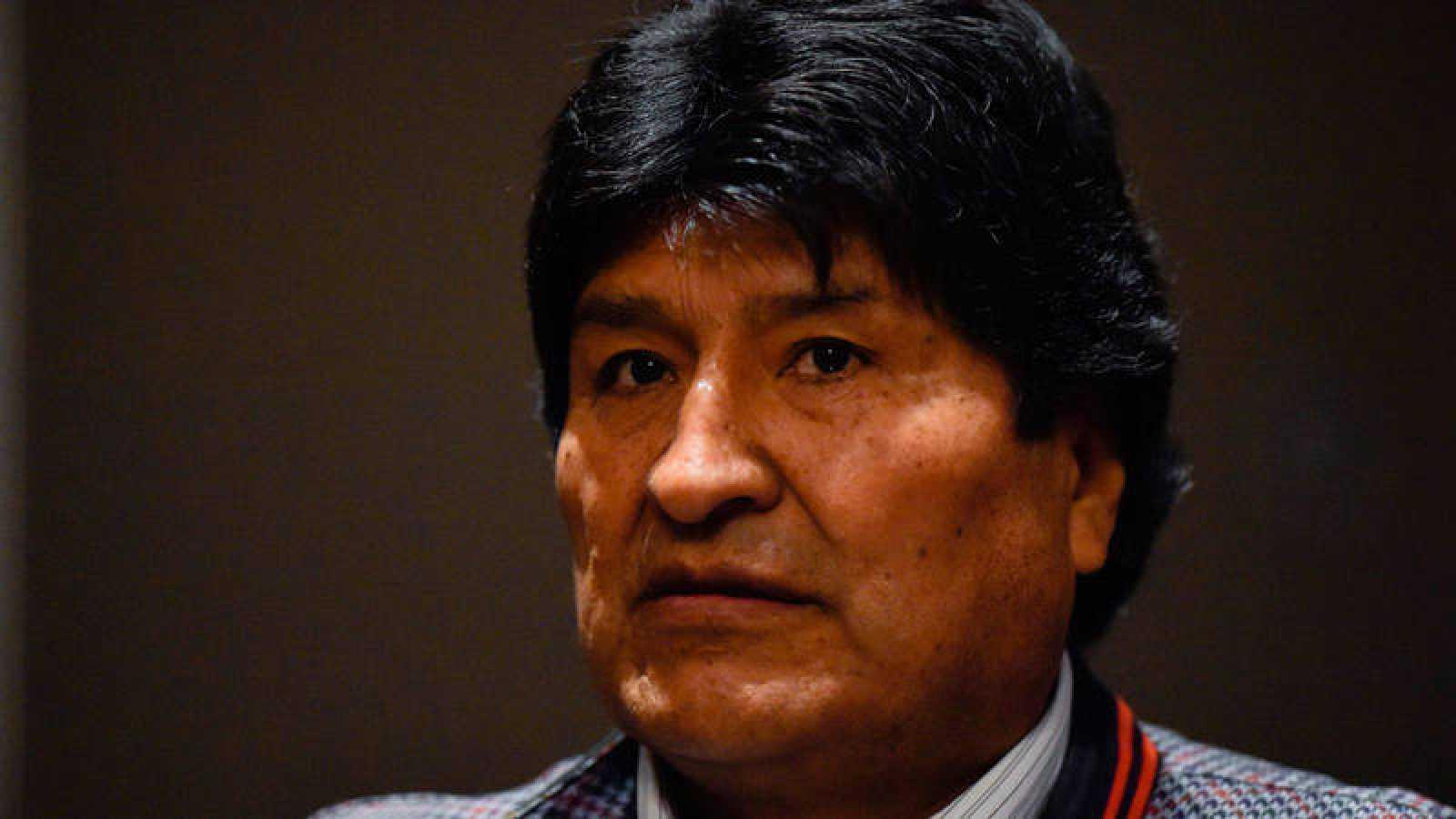 El expresidente de Bolivia, Evo Morales, durante una rueda de prensa en Ciudad de México