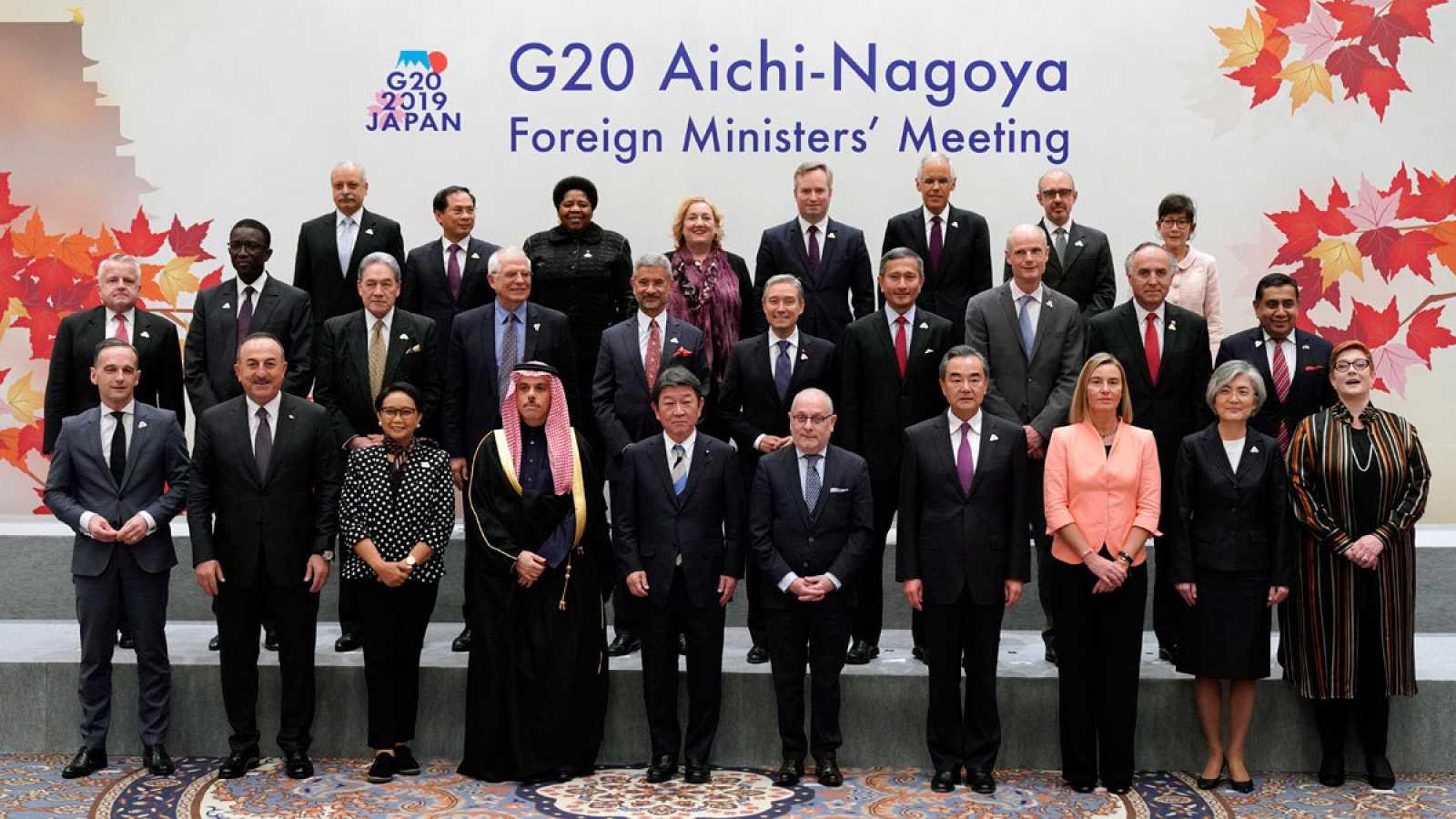 Representantes de los Ministerios de Asuntos Exteriores de los países del G20 en Nagoya (Japón)