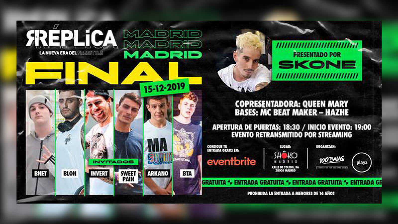 El evento se celebrará en la sala Shoko de Madrid
