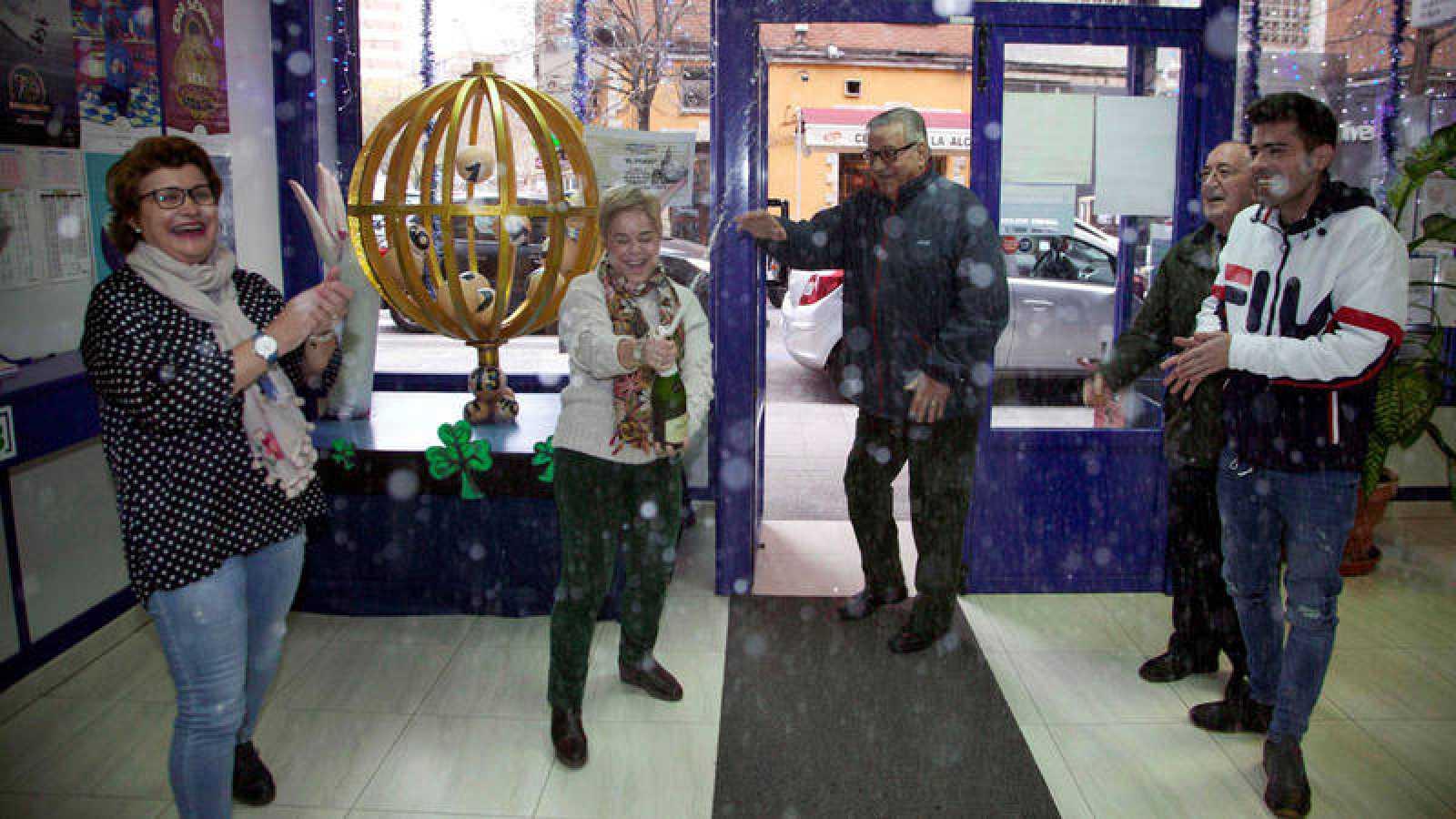 Celebración de la Lotería de Navidad en Talavera de la Reina