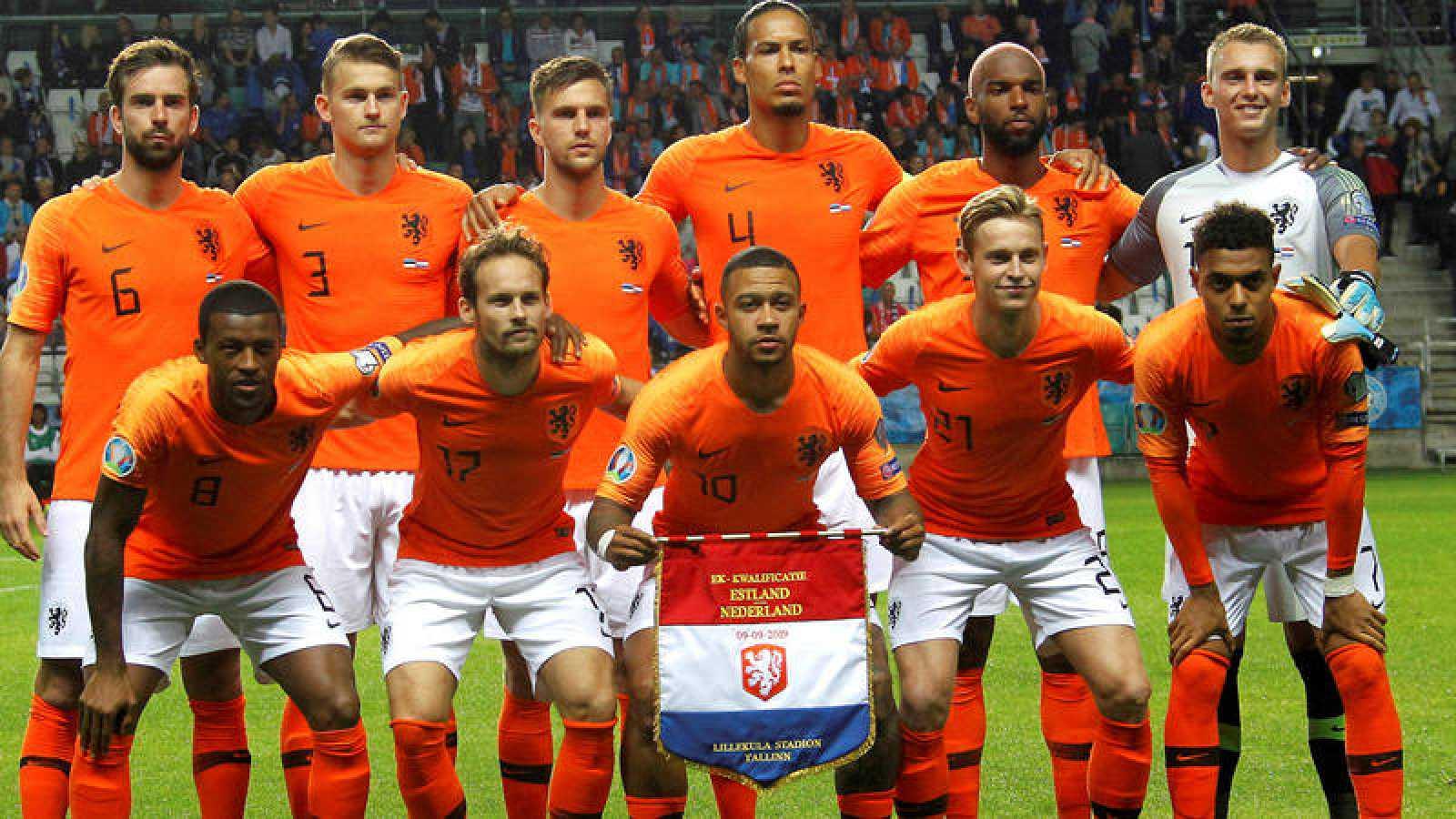 Once de salida de la selección de Holanda en el pasado encuentro contra Estonia, el 9 de septiembre.