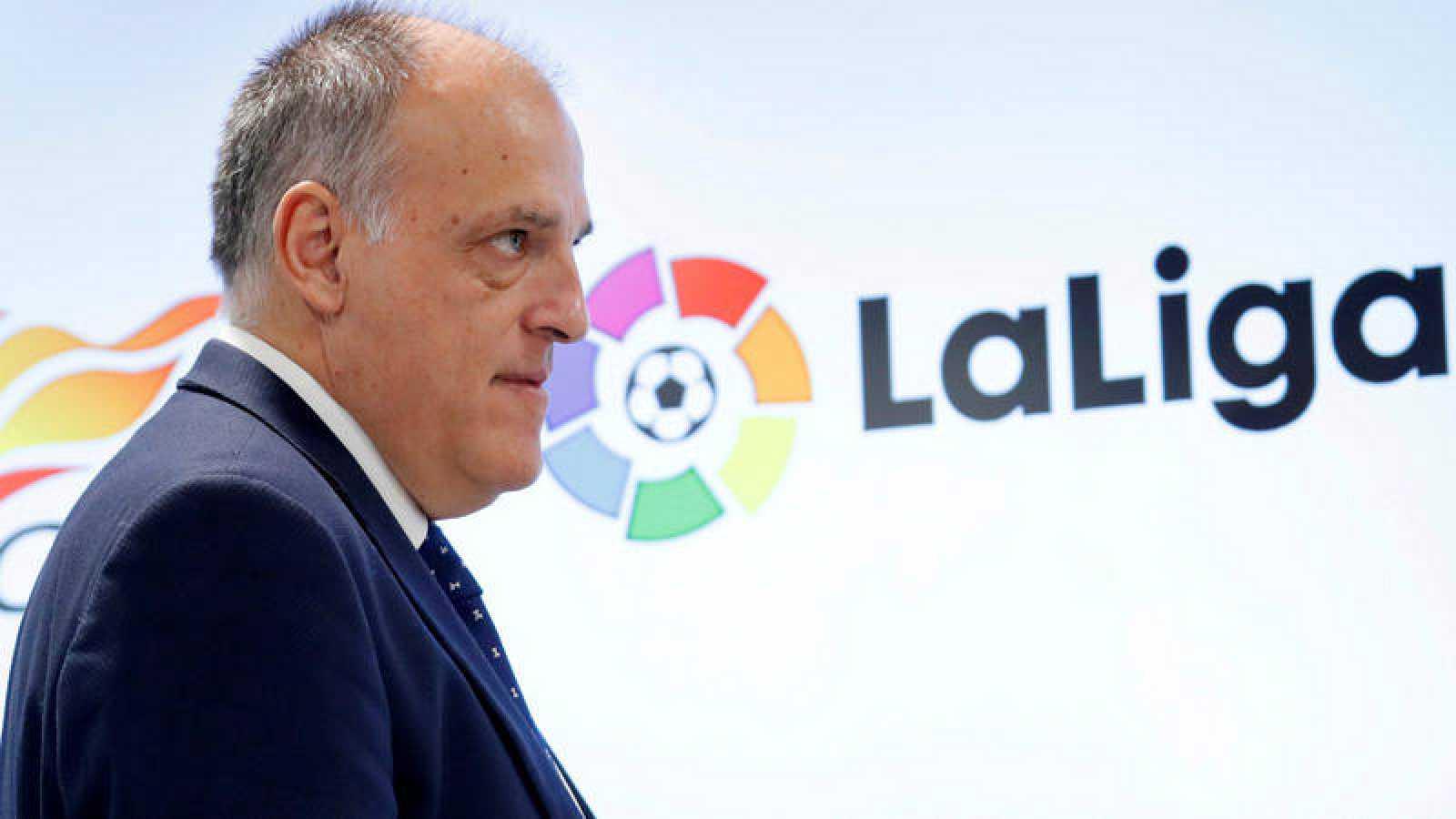 El presidente de LaLiga, Javier Tebas, en imagen de archivo.