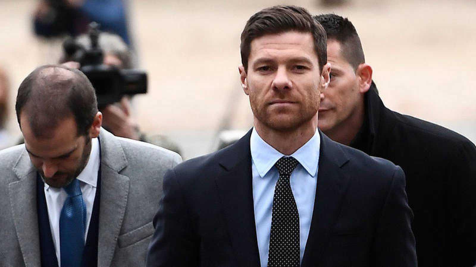 El exfutbolista Xabi Alonso, a su llegada a la Audiencia de Madrid el pasado 22 de noviembre.