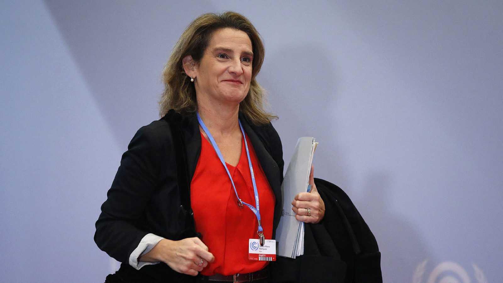 La ministra para la Transición Ecológica en funciones, Teresa Ribera