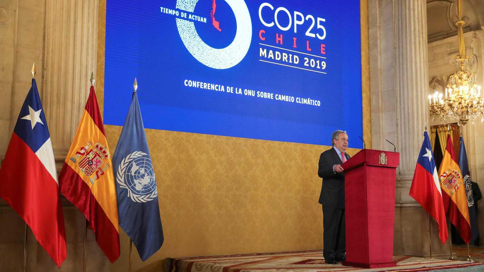 El secretario general de la ONU, Antonio Guterres, durante la COP25