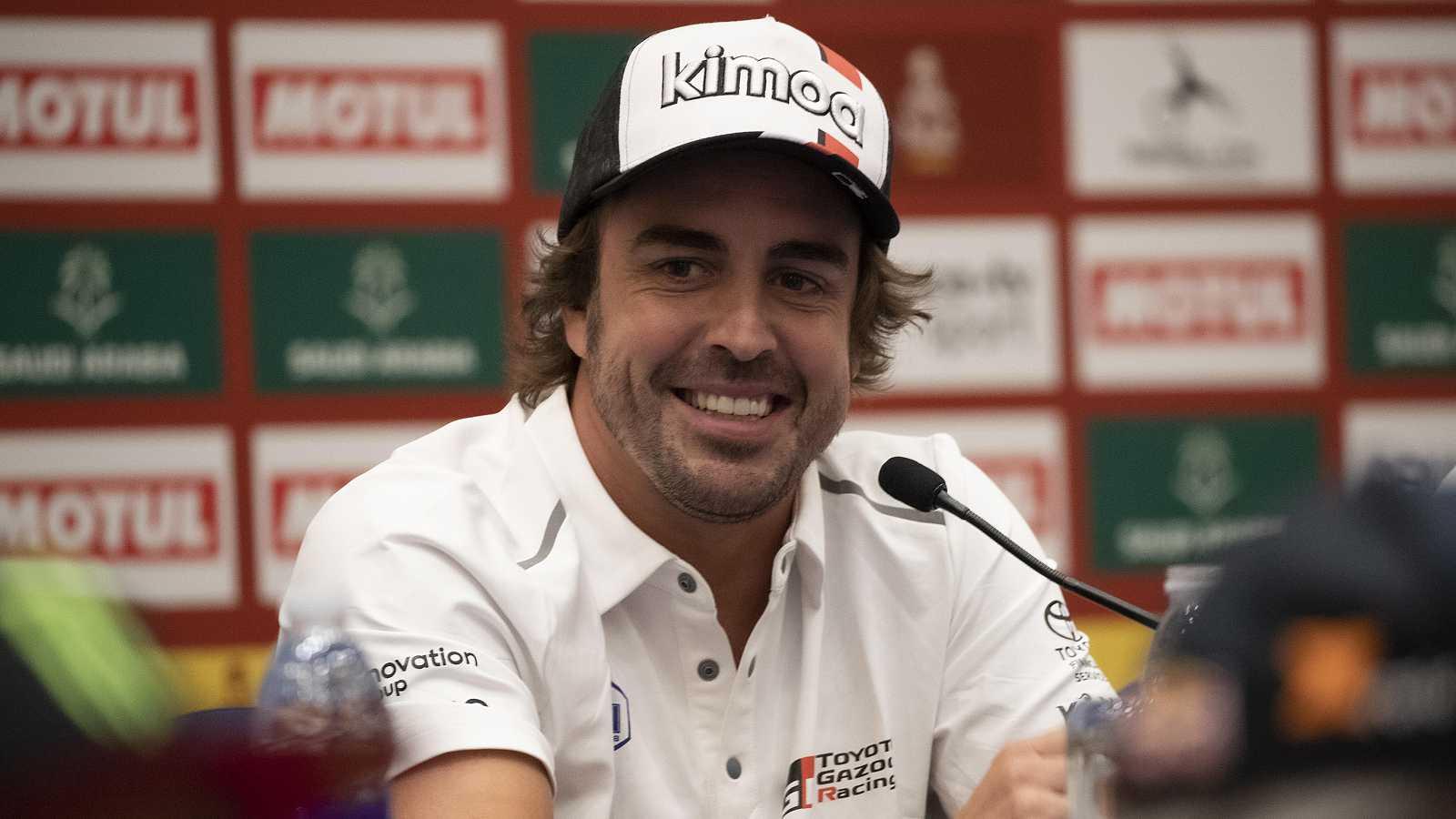 Fernando Alonso en una rueda de prensa.