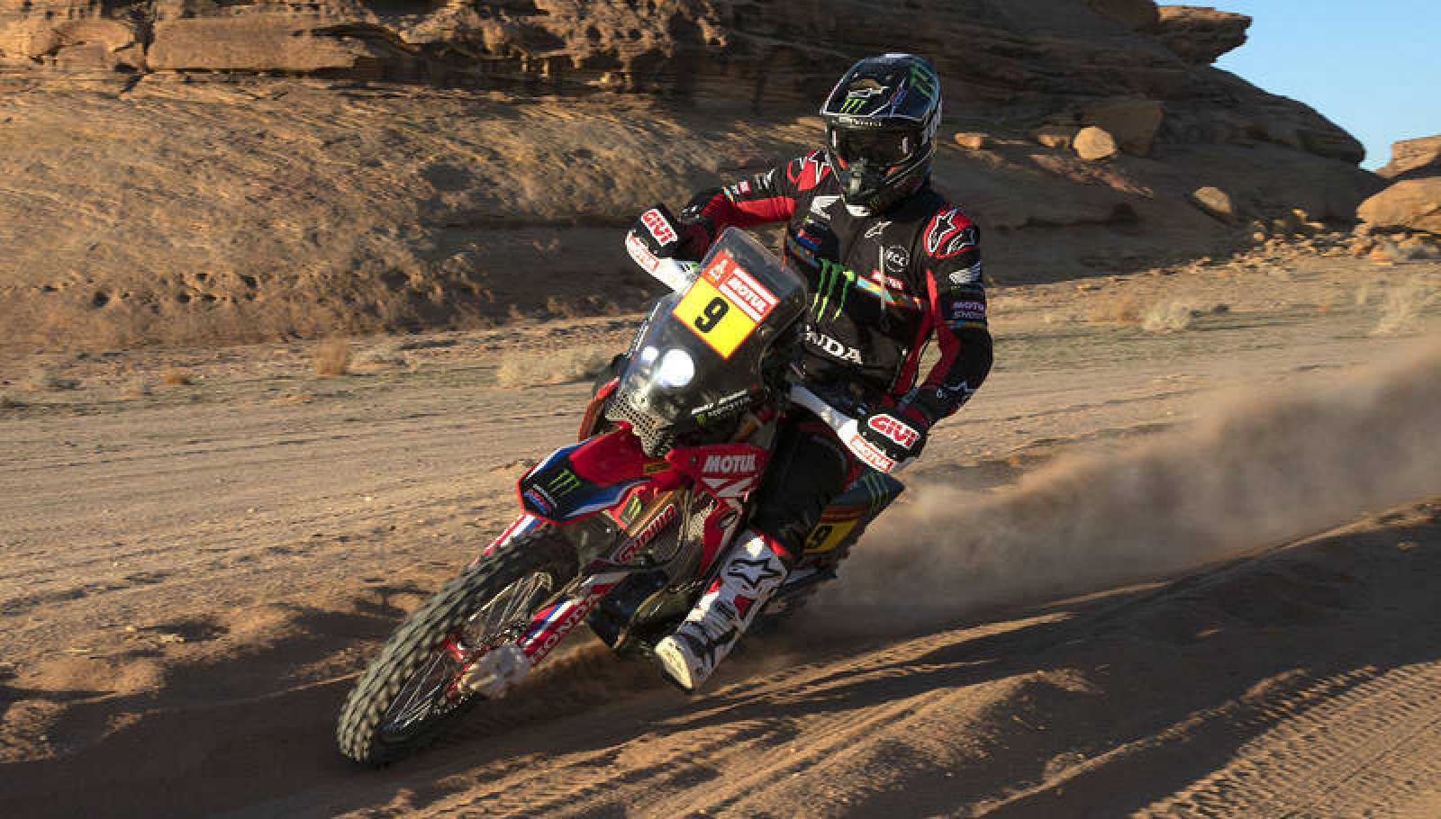 Ricky Brabec, durante la sexta etapa.