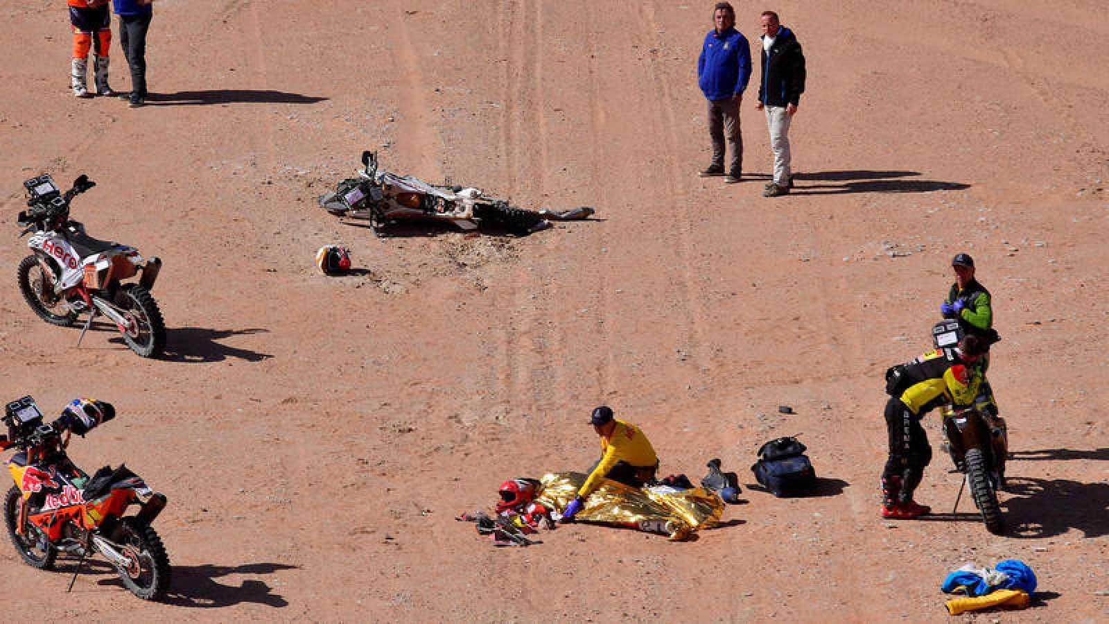 Escena del accidente en el que Gonçalves ha perdido la vida.