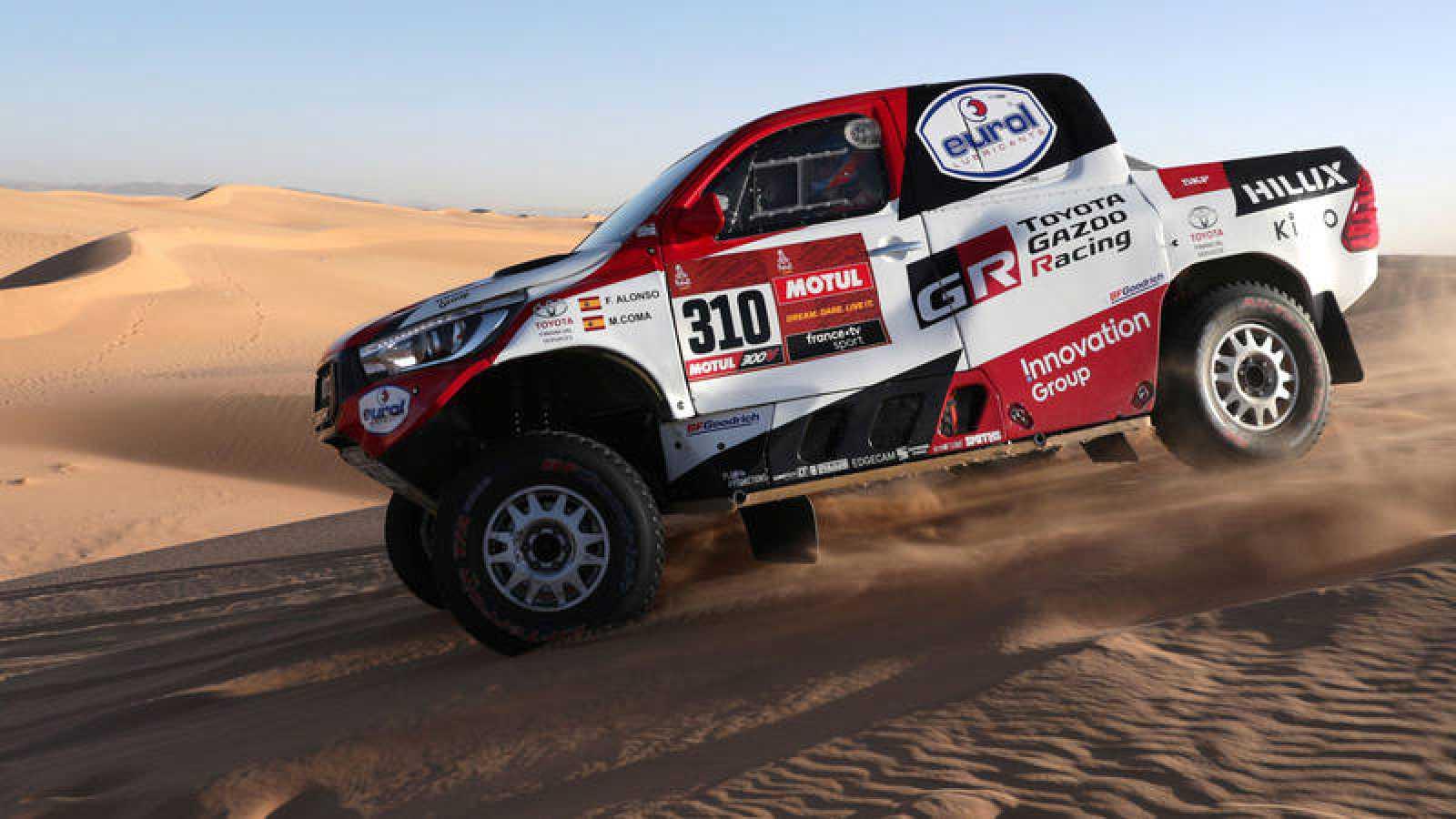El español Fernando Alonso, en una imagen del presente Dakar.