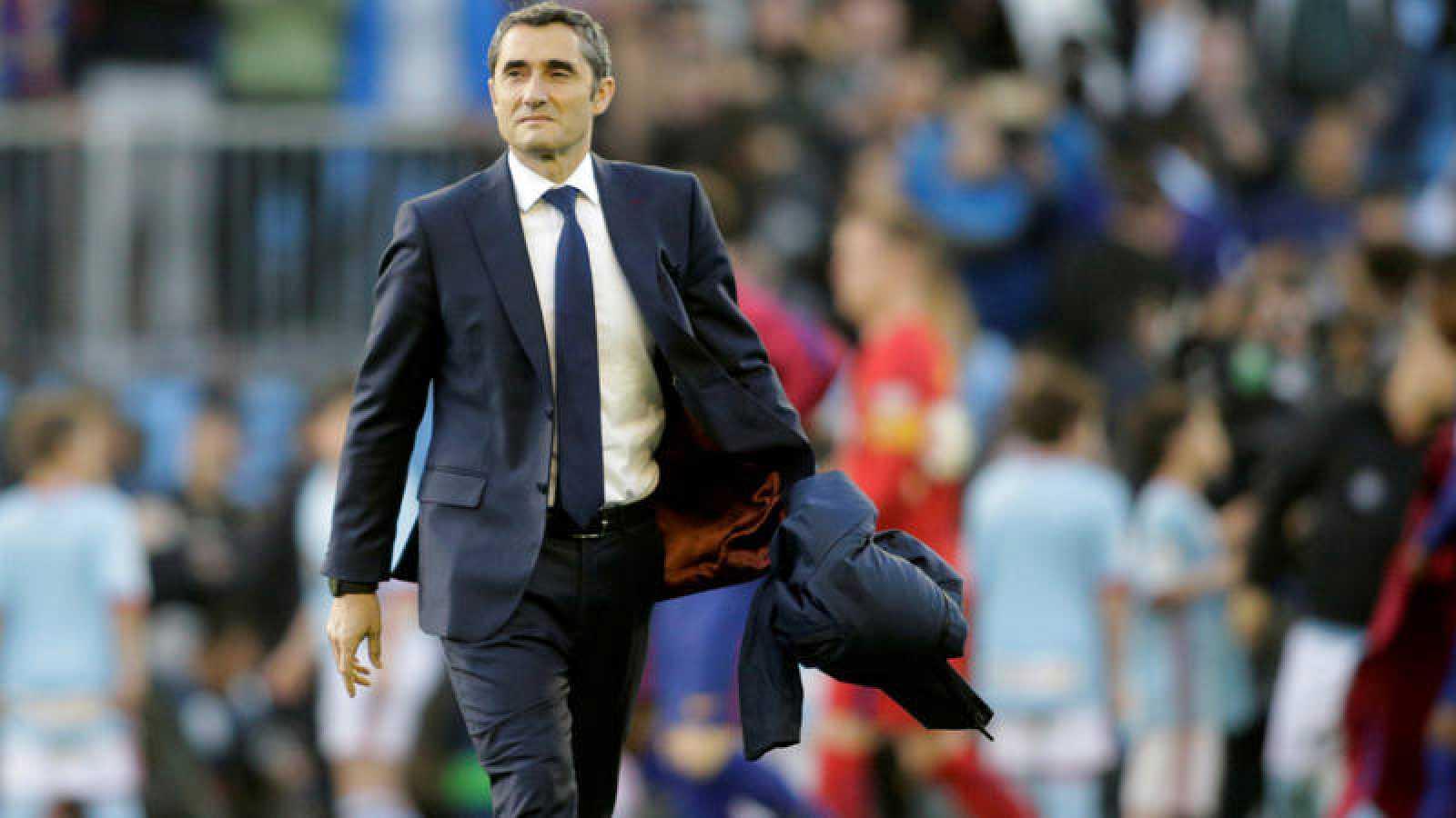 Ernesto Valverde, en una imagen pasada de su etapa como técnico del Barça.