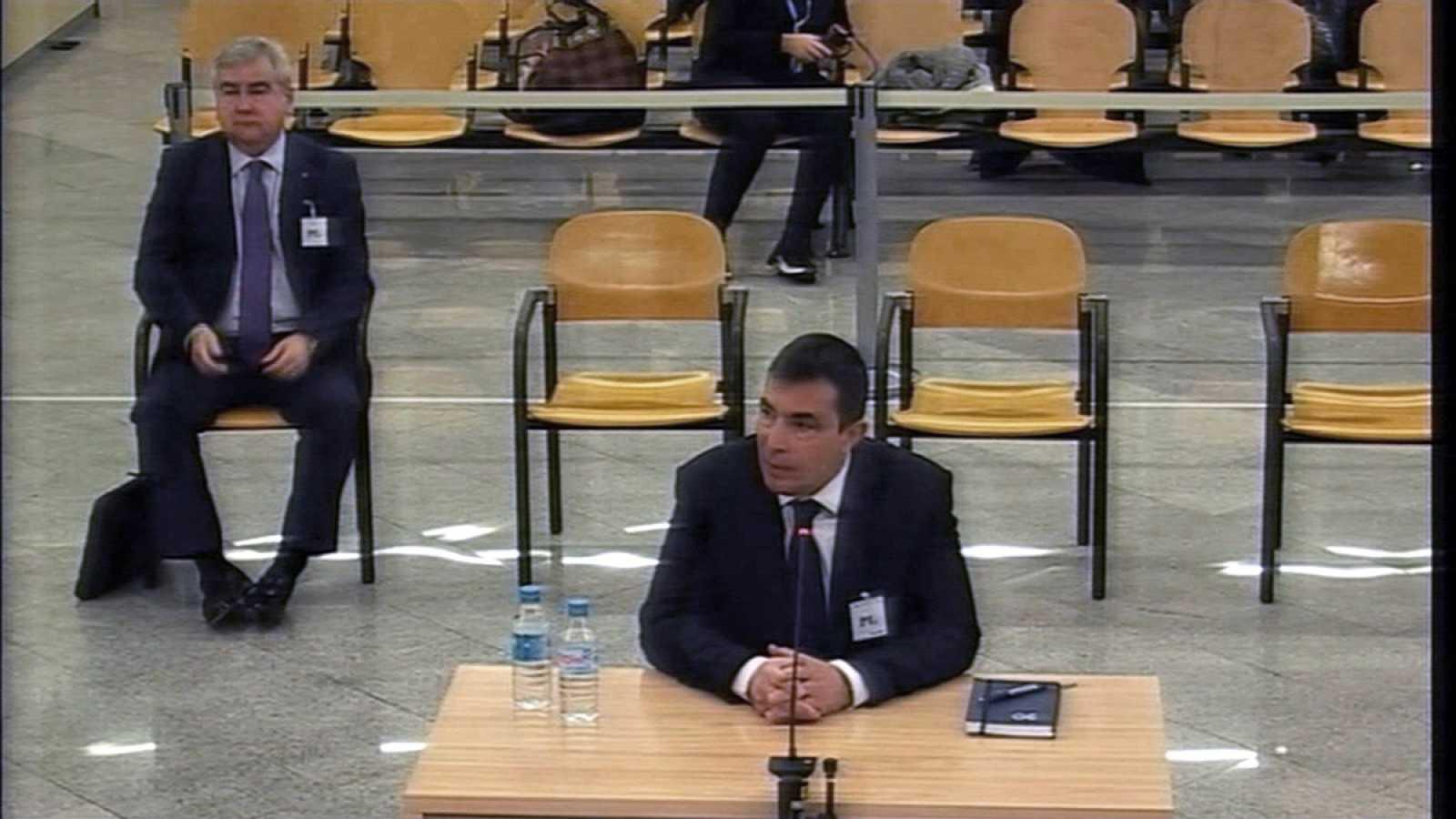 Pere Soler y Cèsar Puig, en la Audiencia Nacional