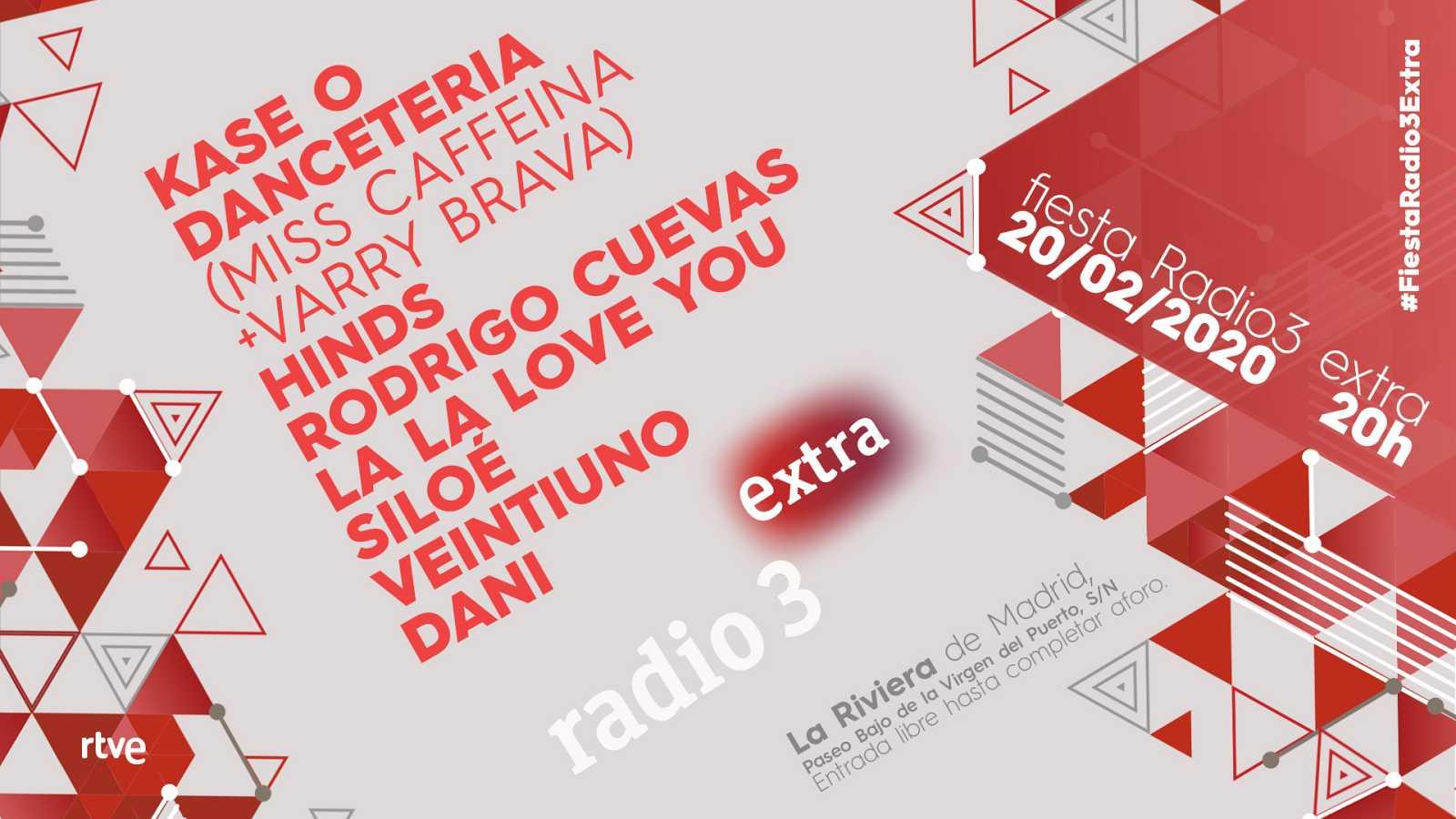 Kase O, Miss Cafeina y Varry Brava, Hinds, La La Love you o Rodrigo Cuevas, en la fiesta de Radio 3 Extra