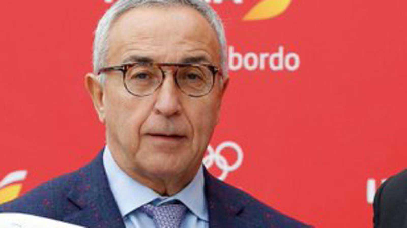 El presidente del Comité Olímpico Español, Alejandro Blanco durante un acto público.