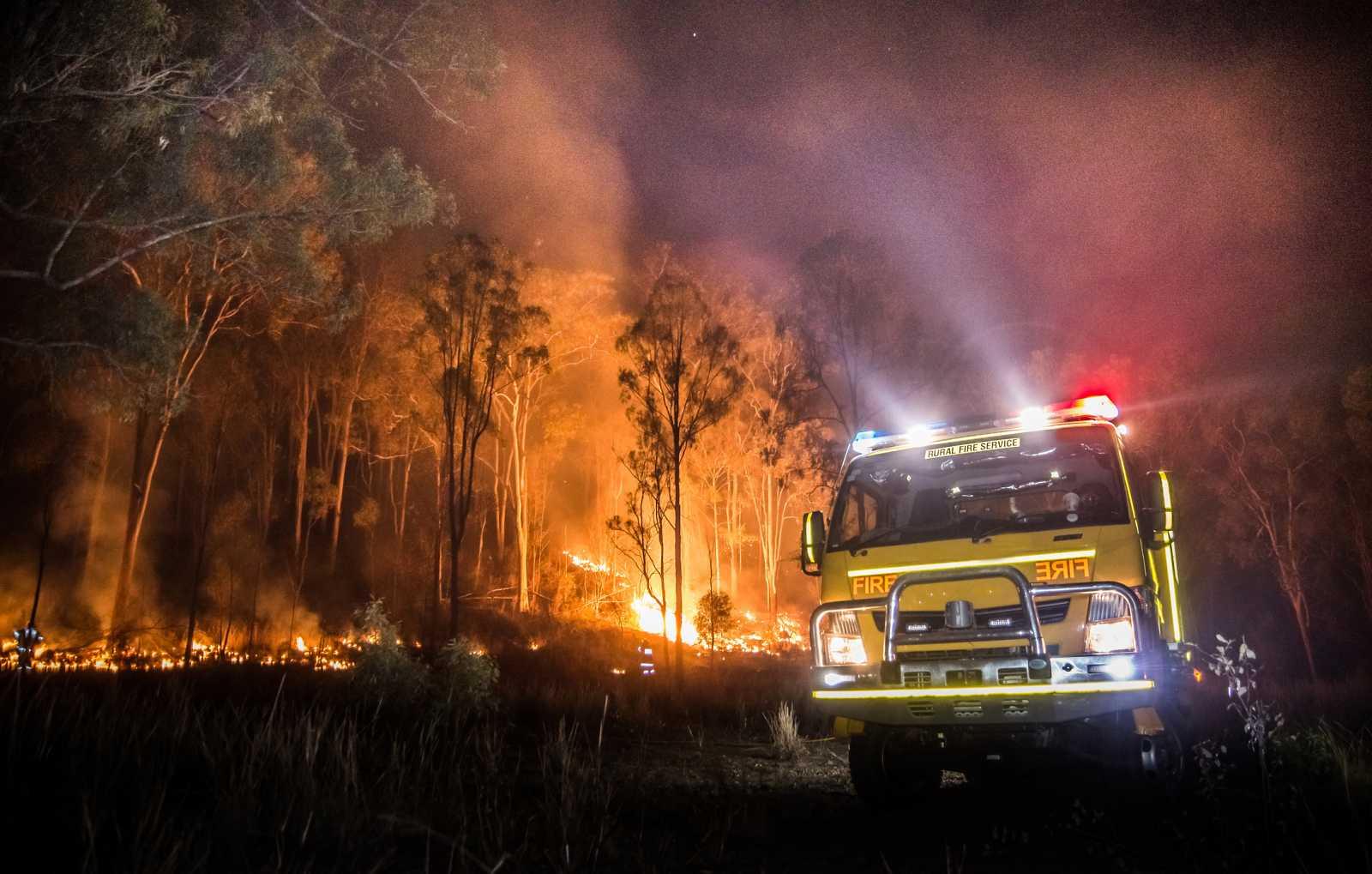 Imagen de un incendio en Australia, donde en enero se han registrado temperaturas muy altas.