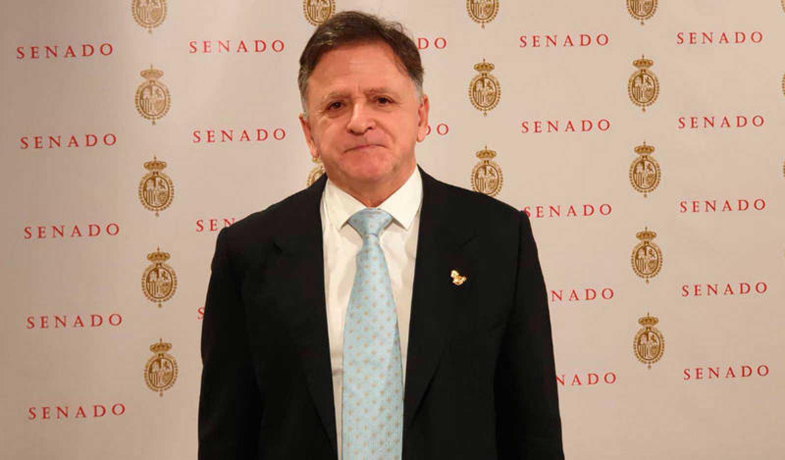 El senador de Vox por Ceuta Juan Ros en una imagen de la cuenta en Twitter del partido.