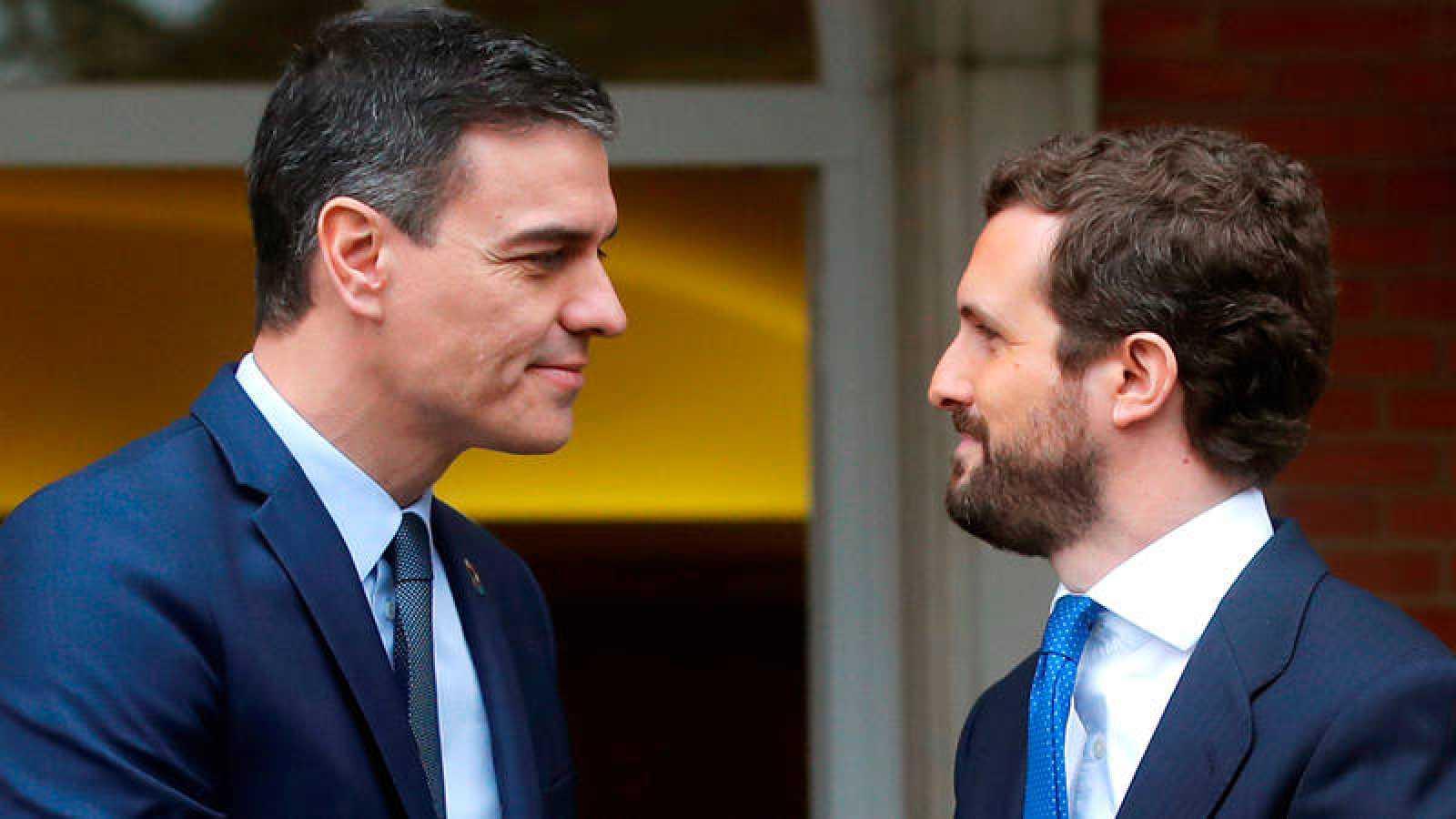 Barómetro CIS: El presidente del Gobierno, Pedro Sánchez, y el líder de la oposición, Pablo Casado (PP).