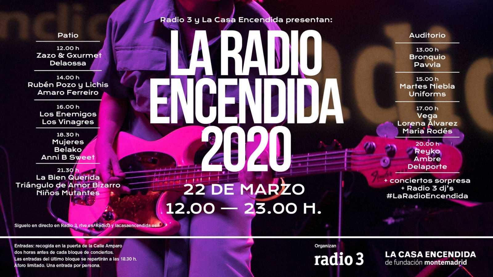 la radio encendida cartel 2020