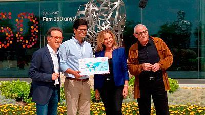 Saber y Ganar entega el premio del programa 5.000 para la investigación oncológica infantil