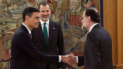 La toma de posesión de Pedro Sánchez, en fotos