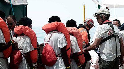 """Clemente, el nigeriano a bordo del Aquarius que volverá a su casa en Roquetas: """"Un luchador nunca se rinde"""""""