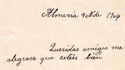 Una carta para anunciar el nacimiento de una niña
