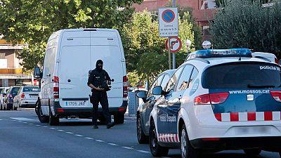 Imagen del dispositivo en Cataluña tras los atentados en Barcelona y Cambrils.
