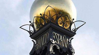 Detalle decorativo de la sede del Banco de España en Madrid