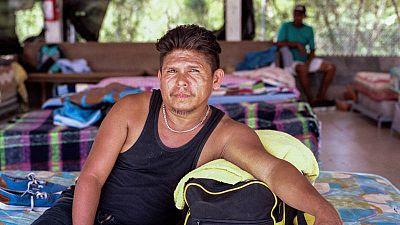 Julio Sánchez, migrante de El Salvador, abandonó su país huyendo de la violencia