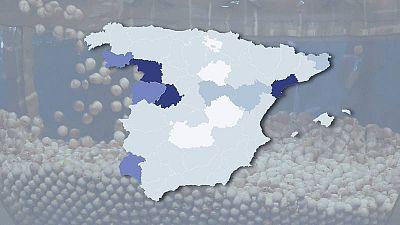 Consulta el mapa de las provincias con mala suerte en el sorteo del Gordo