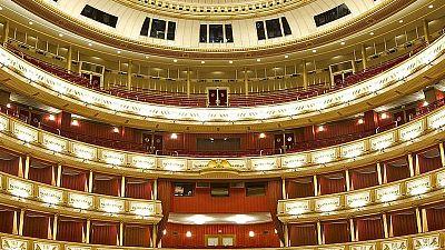Interior de la Ópera Estatal de Viena, que celebra su 150 aniversario