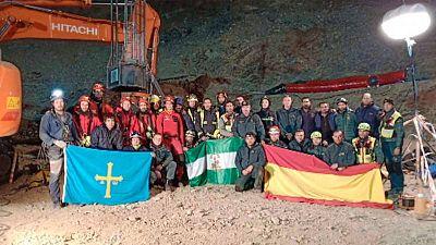 El equipo que ha participado en las operaciones de rescate del pequeño Julen