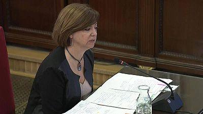 La exconsellera de Gobernación Meritxell Borràs durante su declaración en el juicio del procès