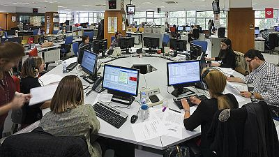 Imagen de la redacción de Radio 5