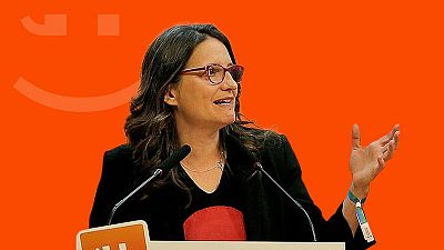 Mónica Oltra, vicepresidenta de la Generalitat Valenciana y candidata a la presidencia de esta comunidad por Compromís.