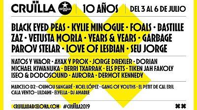 Cartel del festival Cruïlla 2019