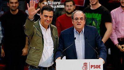 Sánchez, en un acto del PSOE con el candidato en Madrid, Ángel Gabilondo
