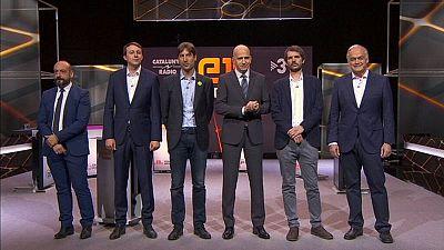 Jordi Cañas, Javier López, Jordi Solé, Ernest Urtasu y Esteban González Pons, en el debate de TV3