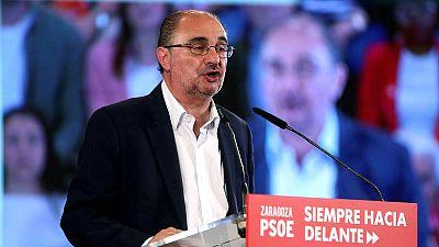 El candidato del PSOE a la presidencia de Aragón, Javier Lambán, en una imagen de archivo