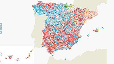 Mapa interactivo: Mira quién ha ganado en cada municipio