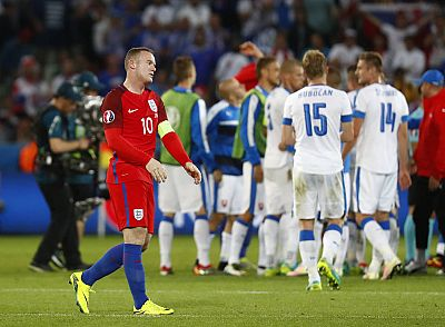 Rooney tras finalizar el partido de Inglaterra ante Eslovaquia, que acabó con 0-0.