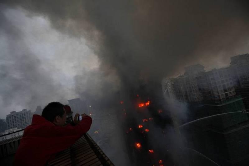 Las llamas, de gran tamaño, han llamado la atención en gran parte de la ciudad