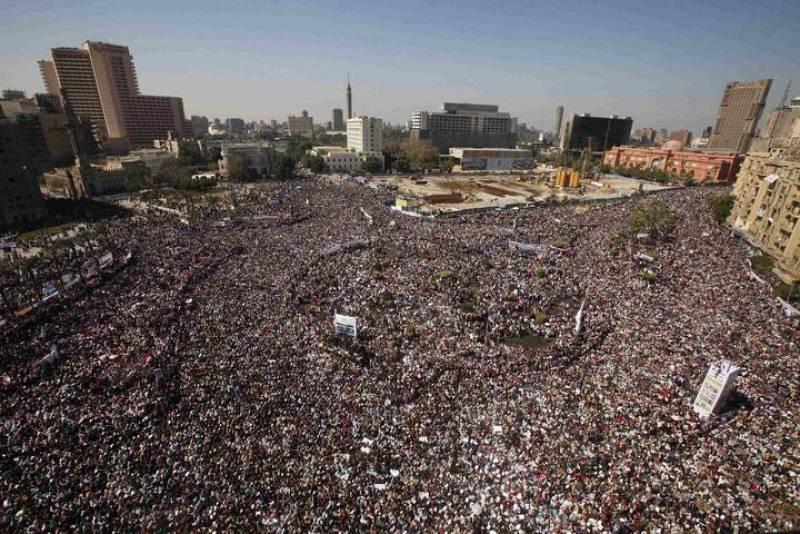 Concentración en la Plaza Tahrir, el 18 de febrero