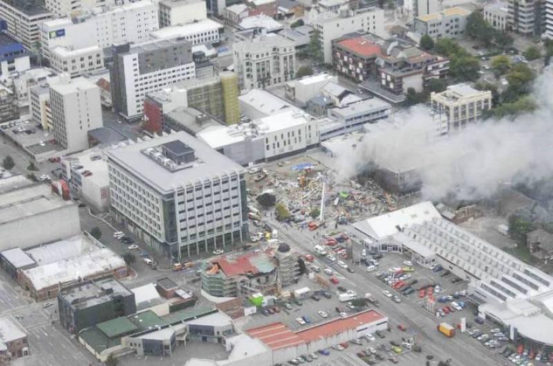 Imagen del edificio de la Canterbury Television (CTV) destruido: bajo sus escombros, los servicios de rescate creen que hay 100 personas que dan por muertas