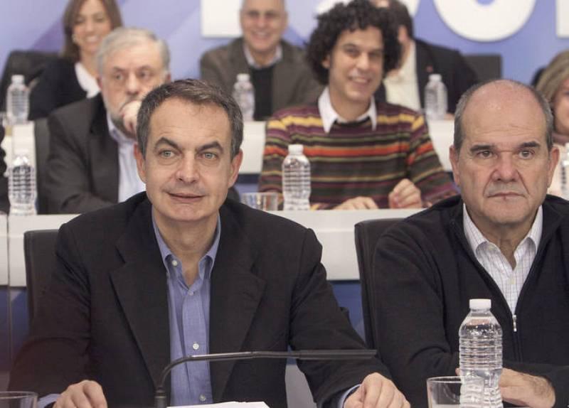 ZAPATERO Y CHAVES EN LA REUNIÓN DEL COMITÉ FEDERAL DEL PSOE